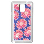Pink Daisy Pattern Samsung Galaxy Note 4 Case (White) Front
