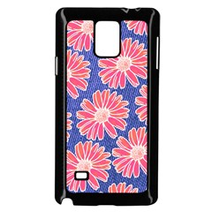 Pink Daisy Pattern Samsung Galaxy Note 4 Case (Black)