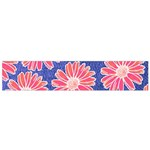 Pink Daisy Pattern Flano Scarf (Small)  Front