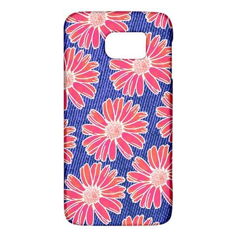 Pink Daisy Pattern Galaxy S6