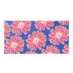 Pink Daisy Pattern Satin Wrap