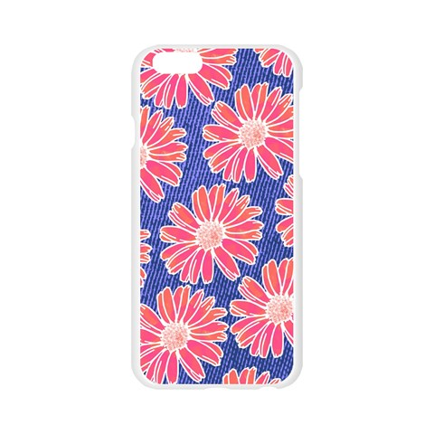 Pink Daisy Pattern Apple Seamless iPhone 6/6S Case (Transparent)