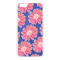 Pink Daisy Pattern Apple Seamless iPhone 6 Plus/6S Plus Case (Transparent)