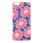 Pink Daisy Pattern Apple Seamless iPhone 6 Plus/6S Plus Case (Transparent) Front