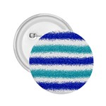 Metallic Blue Glitter Stripes 2.25  Buttons Front