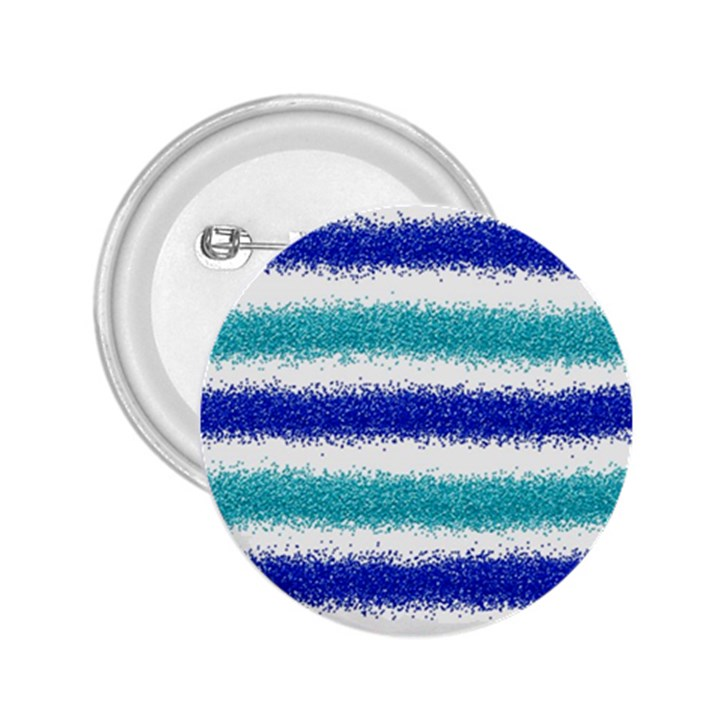 Metallic Blue Glitter Stripes 2.25  Buttons