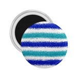 Metallic Blue Glitter Stripes 2.25  Magnets Front