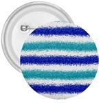 Metallic Blue Glitter Stripes 3  Buttons Front