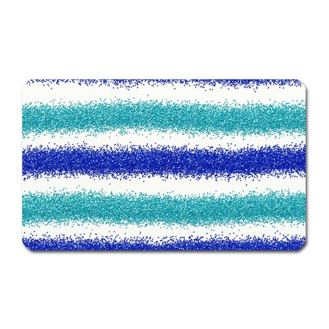 Metallic Blue Glitter Stripes Magnet (Rectangular)