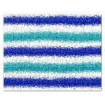 Metallic Blue Glitter Stripes Rectangular Jigsaw Puzzl Front
