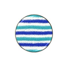 Metallic Blue Glitter Stripes Hat Clip Ball Marker (4 pack)