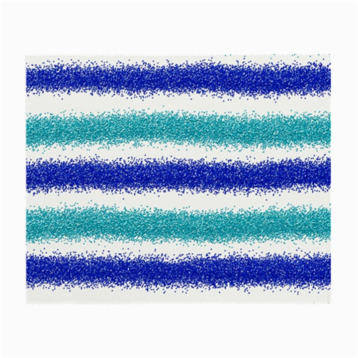 Metallic Blue Glitter Stripes Small Glasses Cloth