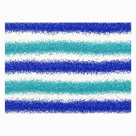 Metallic Blue Glitter Stripes Collage Prints
