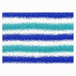 Metallic Blue Glitter Stripes Collage Prints 18 x12 Print - 1