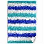 Metallic Blue Glitter Stripes Canvas 20  x 30   30 x20 Canvas - 1