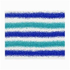 Metallic Blue Glitter Stripes Small Glasses Cloth (2-Side)