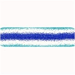 Metallic Blue Glitter Stripes Large Bar Mats 34 x9.03 Bar Mat - 1
