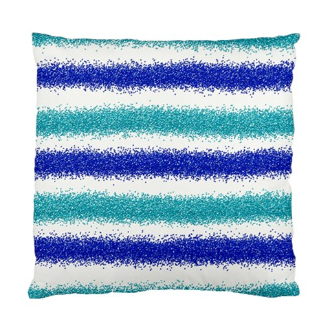 Metallic Blue Glitter Stripes Standard Cushion Case (Two Sides)