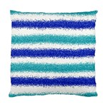 Metallic Blue Glitter Stripes Standard Cushion Case (Two Sides) Back