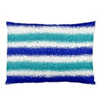 Metallic Blue Glitter Stripes Pillow Case 26.62 x18.9 Pillow Case