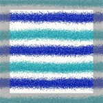 Metallic Blue Glitter Stripes Mini Canvas 8  x 8  8  x 8  x 0.875  Stretched Canvas