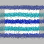 Metallic Blue Glitter Stripes Mini Canvas 7  x 5  7  x 5  x 0.875  Stretched Canvas