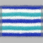 Metallic Blue Glitter Stripes Canvas 16  x 12  16  x 12  x 0.875  Stretched Canvas