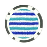 Metallic Blue Glitter Stripes Poker Chip Card Guards (10 pack)  Back