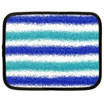 Metallic Blue Glitter Stripes Netbook Case (XXL)  Front