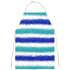 Metallic Blue Glitter Stripes Full Print Aprons