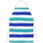 Metallic Blue Glitter Stripes Full Print Aprons Front