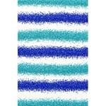 Metallic Blue Glitter Stripes 5.5  x 8.5  Notebooks Back Cover Inside