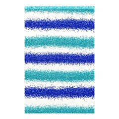 Metallic Blue Glitter Stripes Shower Curtain 48  x 72  (Small)