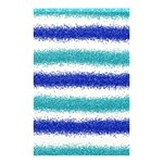 Metallic Blue Glitter Stripes Shower Curtain 48  x 72  (Small)  48 x72 Curtain