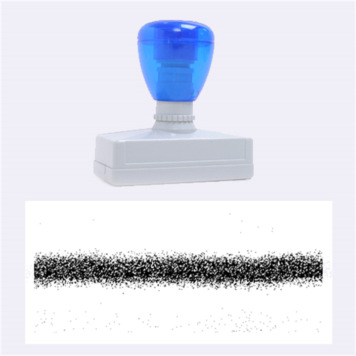 Metallic Blue Glitter Stripes Rubber Stamps (Large)