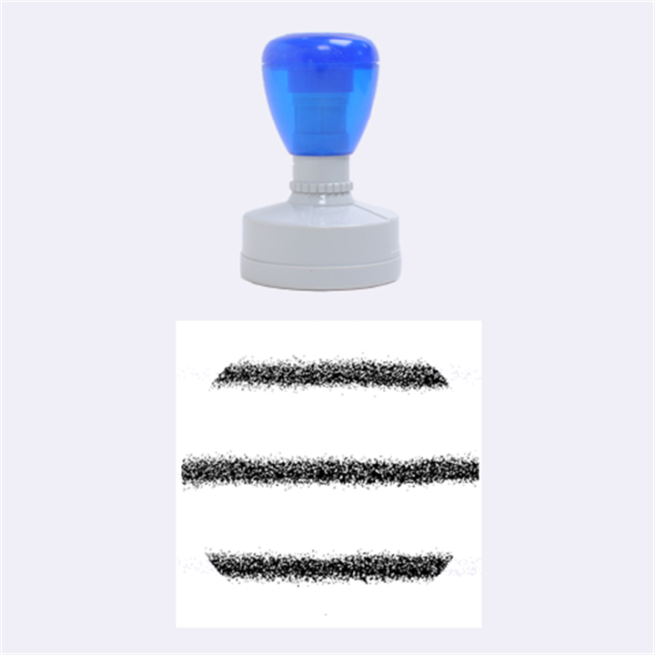 Metallic Blue Glitter Stripes Rubber Round Stamps (Medium)