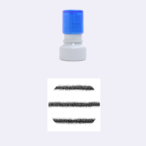 Metallic Blue Glitter Stripes Rubber Round Stamps (Small)