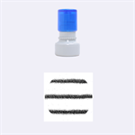 Metallic Blue Glitter Stripes Rubber Round Stamps (Small) 1.12 x1.12  Stamp