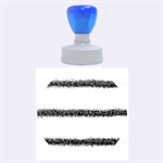 Metallic Blue Glitter Stripes Rubber Round Stamps (Large) 1.875 x1.875  Stamp