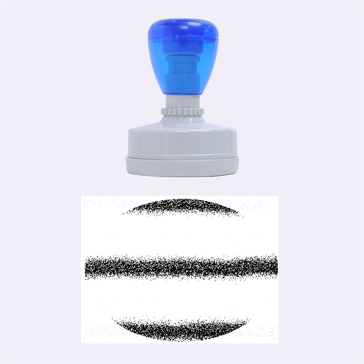 Metallic Blue Glitter Stripes Rubber Oval Stamps
