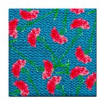 Carnations Tile Coasters Front