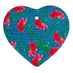 Carnations Ornament (Heart)  Front