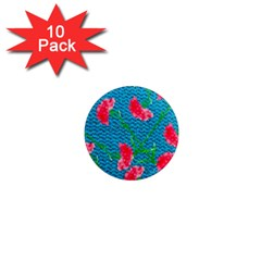 Carnations 1  Mini Magnet (10 pack)