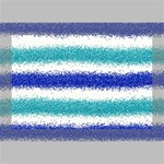 Metallic Blue Glitter Stripes Deluxe Canvas 18  x 12   18  x 12  x 1.5  Stretched Canvas