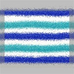 Metallic Blue Glitter Stripes Deluxe Canvas 20  x 16   20  x 16  x 1.5  Stretched Canvas