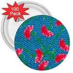 Carnations 3  Buttons (100 pack)  Front