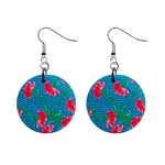 Carnations Mini Button Earrings Front
