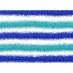 Metallic Blue Glitter Stripes BOY 3D Greeting Card (7x5) Front