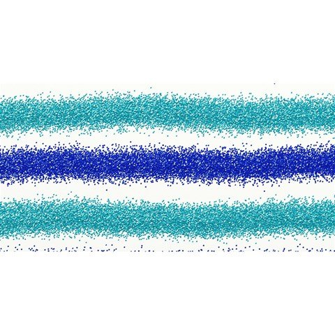 Metallic Blue Glitter Stripes YOU ARE INVITED 3D Greeting Card (8x4)