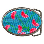 Carnations Belt Buckles Front